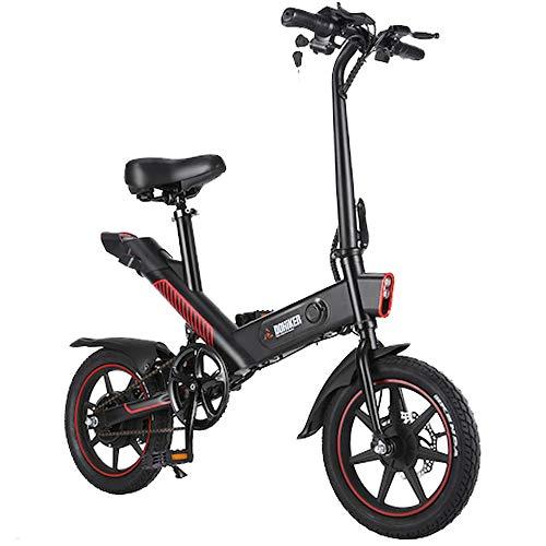 Freego Vélo Électrique Pliant, Jusqu'à 25km/h, Vitesse Réglable 14 Pouces E-Bike,Autonomie 50km, 350W/36V Batterie Lithium Rechargeable, Adulte Unisexe Vélo Électrique