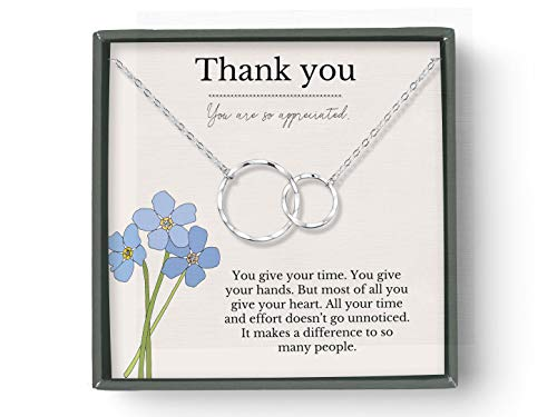 THANK YOU NECKLACE GIFT (sterling-silver)