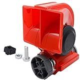 MASO Car Compact Air Horn 12V/24V Dual Tone Super Loud Electric Pump Air Horn for Car/Truck/Motorcycle/Boat