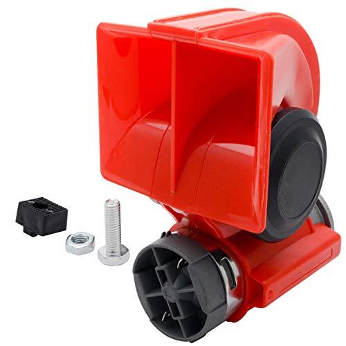 MASO Bocina de aire compacta para coche, 12 V/24 V, doble tono,...