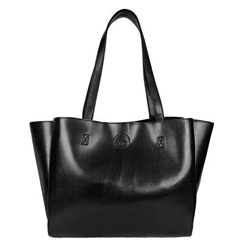 Don Cavalli Black Women's PU Leather Handbag (DC-HB_7-Black)