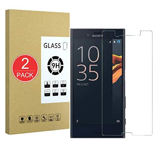 X-Dision [2-Pack Bildschirmschutzfolie Kompatibel mit Sony Xperia X Compact, Schutzhülle aus 9H-Hartglas, 2.5D Premium-Schutzfolie, [Blasenfreie Installation] [Durchsichtig Kratzfest]