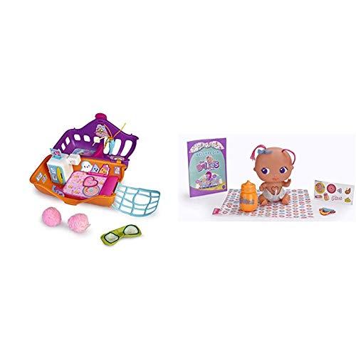 The Bellies - Bellies Resort SPA, Accesorio muñeco bebé para niños y niñas (Famosa 700015538) + Bellies - Yumi -Yummy, muñeco Interactivo para niños y niñas (Famosa 700014565)
