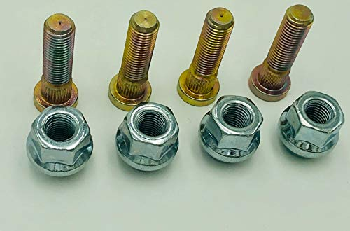ATV Wheel Studs and Lug Nut Kit by Rad Parts For Honda TRX 450 400 250, Foreman, Rincon, Rubicon, Rancher, FourTrax ATV Wheel Studs W/ 17mm OEM Style Lug Nuts (4)