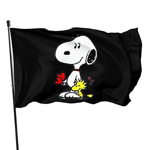 Peanuts - Bandiera Snoopy, in poliestere, 90 x 150 cm