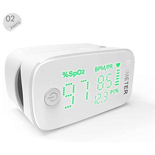 YJJ Finger-Pulsoximeter, Bewegliche Fingertip Digitale Pulsoximeter Blut-Sauerstoff-Monitor Zur Messung Der Sauerstoffsättigung / Spo2 / PI, One-Touch-Bedienung,Grün
