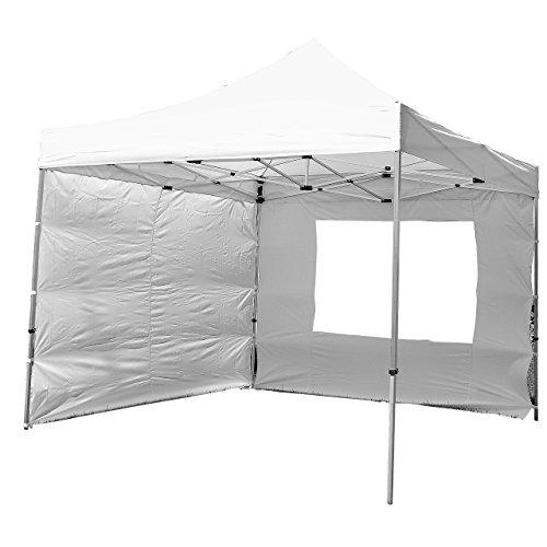 Nexos SM936151_SL01_AZ Profi Faltpavillon Partyzelt Pavillon 3x3 m mit 4 Seitenteilen-hochwertige Ausführung-wasserdichtes Dach 270 g/m² + Tragetasche – Farbe: weiß
