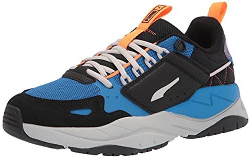 PUMA Men's X-Ray 2 Sneaker, Black-Gray Violet-Future Blue-Vibrant Orange White, 9.5