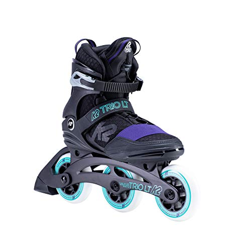 K2 Skates Damen TRIO LT 100 W Inline Skates, black-purple, 36.5 EU (4 UK)