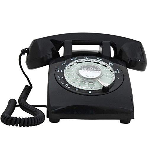 LXYZ Teléfonos/Hogar Antiguo Retro Dial Giratorio Timbre metálico Rellamada de línea Fija, función Manos Libres Teléfono Retro Teléfono de dial Giratorio Teléfono de Estilo Retro