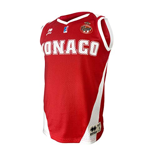 AS Monaco Basketball-Trikot, offiziell, 2019-2020 XXL rot
