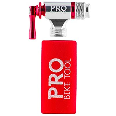 Pro Bike Tool CO2 Inflator - Quick & Easy - Presta and Schrader Valve Compatible - Bicycle Tire Pump For Road and Mountain Bikes - Insulated Sleeve - No CO2 Cartridges Included