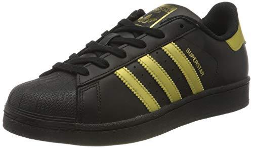 adidas Superstar J, Zapatillas de Deporte Unisex Adulto, Negro (Negbas/Dormet/Dormet), 36 2/3 EU