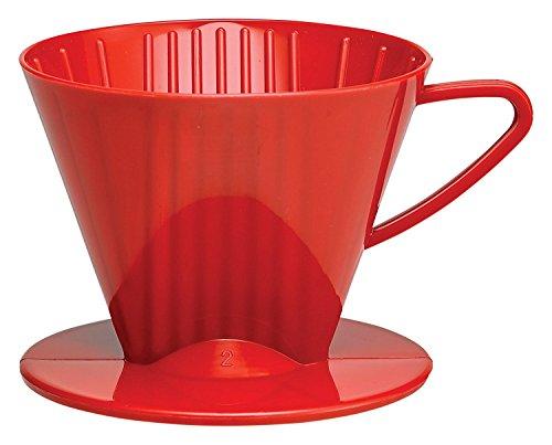 HIC Filter Membran, matt rot, Anzahl On Size, 1bis gebraut 2-cups Kunststoff, rot No.2 rot
