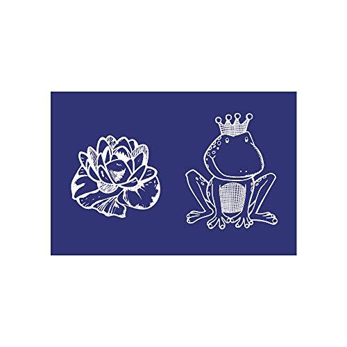 Rayher Schablone, Frosch Plus Seerose, DIN A5, Gummi, Blau, 26 x 16,10 x 0,2 cm