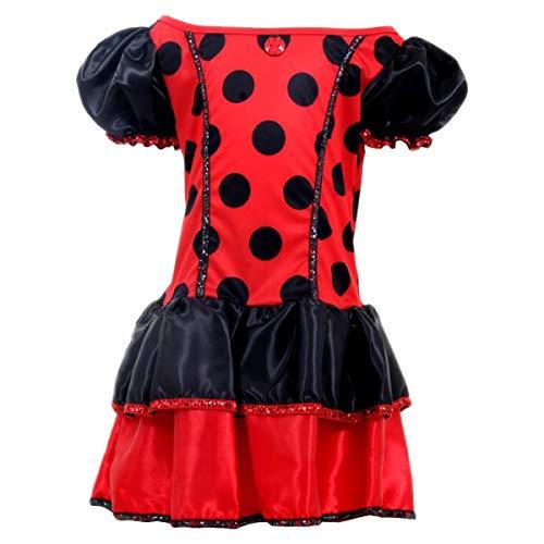 Fantasia Joaninha Infantil LadyBug de Carnaval 2 a 12 Anos (M 5-8)