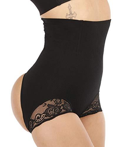 SAYFUT Women's Butt Lifter Shaper Seamless Tummy Control Hi-Waist Thigh Slimmer