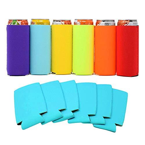 Enfriador de bebidas para latas o soporte de cerveza, material de neopreno, enfriadores de vino y soportes para vino, color rosa