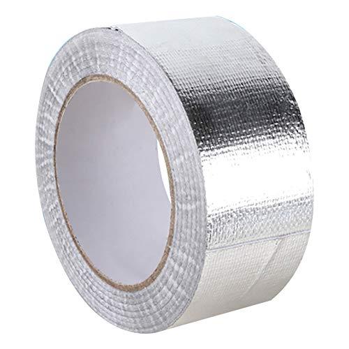 kaakaeu - Rollo de Cinta Aislante de Aluminio Universal para Tubo de Escape y Compartimento Interior de Motor, 25 m