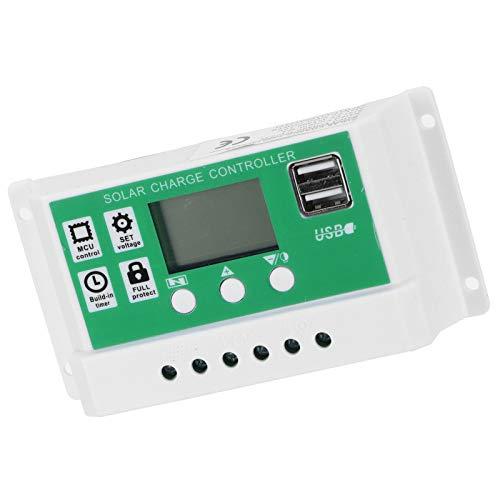 Controlador de Carga, Regulador de Carga Solar de Material ABS Protección contra...