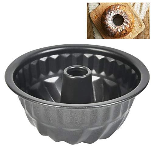 FOROREH Gugelhupfform Baking Pan Runde Backform aus Stahl, Ø 11 cm Kuchenform mit Antihaftbeschichtung, Backform für köstlichen Gugelhupf, stabile antihaftbeschichtete Gugelhupfform, schwarz