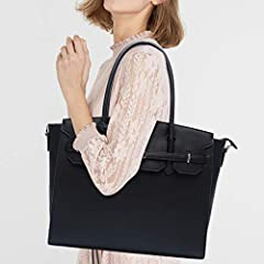 Gorgeous Laptop Bag for Women - If you are looking to tote only one work bag to the office or are searching for a style that works with your daily wardrobe, this UMIULES Laptop Bag is your ultimate work tote and promises to lend your on-the-clock loo...