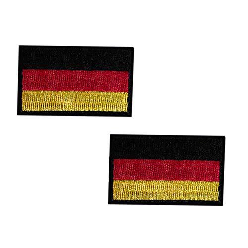 HCS Deutschland Flagge Patch 5 x 3 cm Deutschland Stoff-Patch für B&eswehr Dienstgradschlaufe