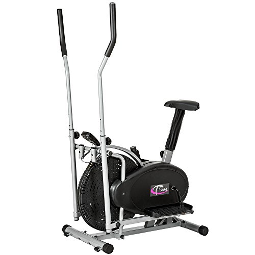 TecTake 2 en 1 ERGOMETRE APPAREIL DE FITNESS STEPPER CROSSTRAINER ELLIPTIQUE EXERCISEUR...
