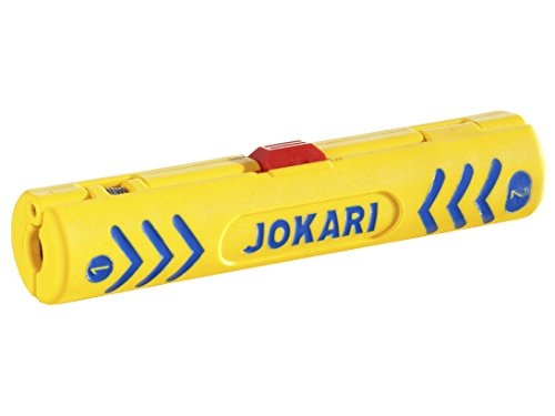 Jokari 30600 Dénudeur câble coaxial, Jaune