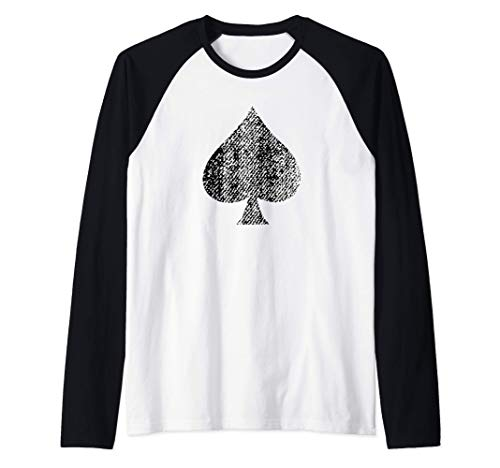 As de picas [Ace of Spades] cartas de póquer Camiseta Manga Raglan