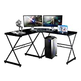 TECHNI SPORT Gaming Desk Collection Rigel Bk - L-Shaped Gaming Desk, Black - Perfect Gaming Desktop Desk