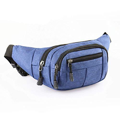 DQMEN Sac Banane pour Voyage Ou Outdoor Sport Waist Pack Fanny Pack pour Vie Quotidienne Ou Randonnée- Homme et Femme (Bleu)