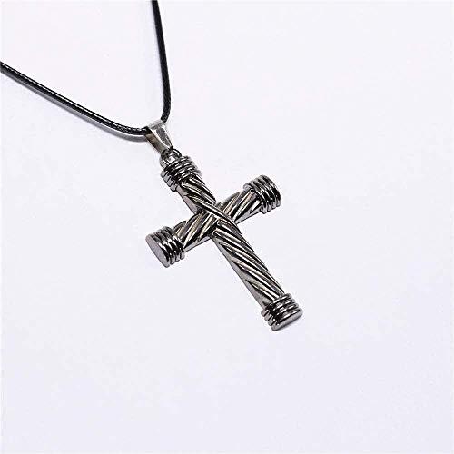 DUEJJH Co.,ltd Collar Collares Colgantes de Cuerda Collares Cruzados de la Biblia Joyas para Hombres Collar para Hombre Collar de chorker Collar Colgante Wen para Hombres Wen