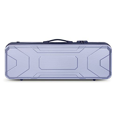 Crossrock CRA400VFSL 4/4 Full Size Violin Case, Zippered ABS Molded Backpack Style in Silver