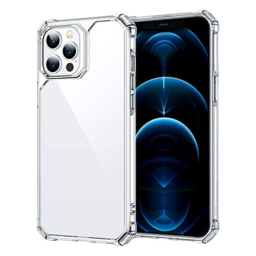 ESR Air Armor Case Compatible with iPhone 12/Compatible with iPhone 12 Pro (2020) [Drop Protection] [Shock-Absorbing Corners] Hard PC + Flexible TPU Frame, 6.1' - Clear
