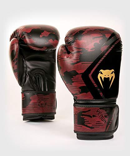 Venum Unisex Defender Contender 2.0 Boxhandschuhe, Schwarze/Rot, 10 oz