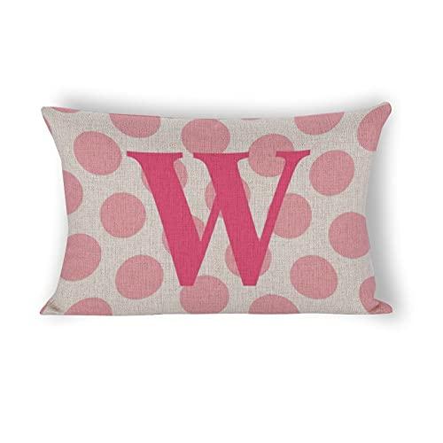Funda de almohada de 50,8 x 76,2 cm, diseño de lunares, color rosa