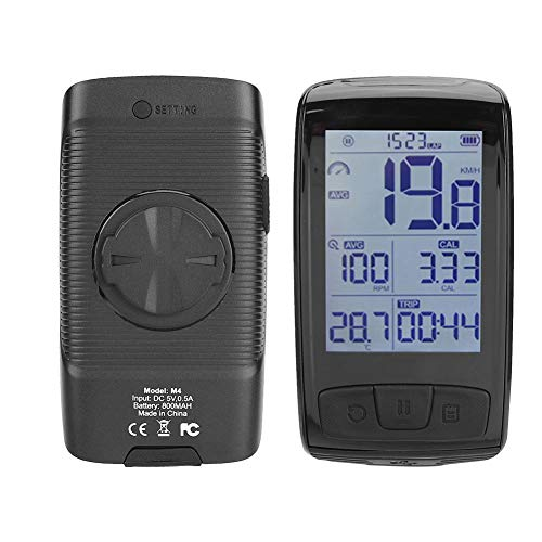 Velocímetro de Bicicleta Ligero a Prueba de Agua Compatible con Bluetooth Link...