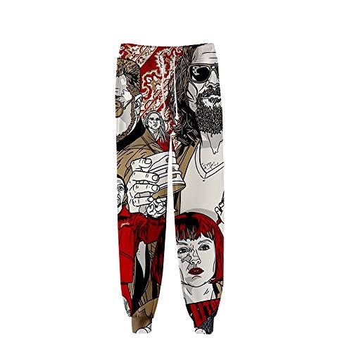 The Big Lebowski Hose Druck Bunte Jogginghose Hosen Sport-Art-Hosen for Männer und Frauen Bedruckt (Color : A01, Size : S)