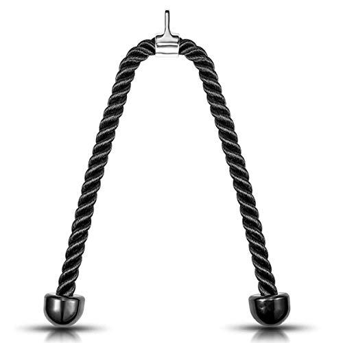 HLONGG Ausbildung Seil für Bodybuilding Training Pull Rope Push-Pull-Press Down Home Fitnessgeräte Zubehör Professioneller Griffige Durable,70cm(27.5