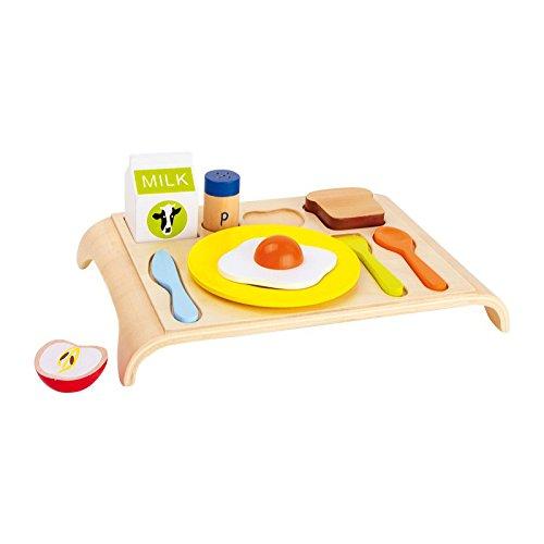 Legler - 2020800 - Imitazione Gioco - Cucina - Vassoio in Legno - Prima Colazione