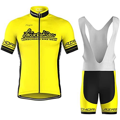 COMEIN Maillot Ciclismo Corto De Verano para Hombre, Ropa Culote Conjunto Traje Culotte Deportivo con 9D Almohadilla De Gel para Bicicleta MTB Ciclista Bici