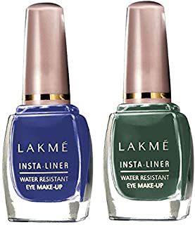 Lakmé Insta Eye Liner, Blue, 9 ml & Lakmé Insta Eye Liner, Green, 9 ml