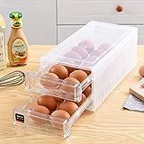 LEAN ON US 24 Grid Drawer Type Egg Storage Box Egg Crisper Kitchen Egg Tray Refrigerator Storage Container Plastic Egg Container Case Refrigerator Fresh Storage Boxs Organizer
