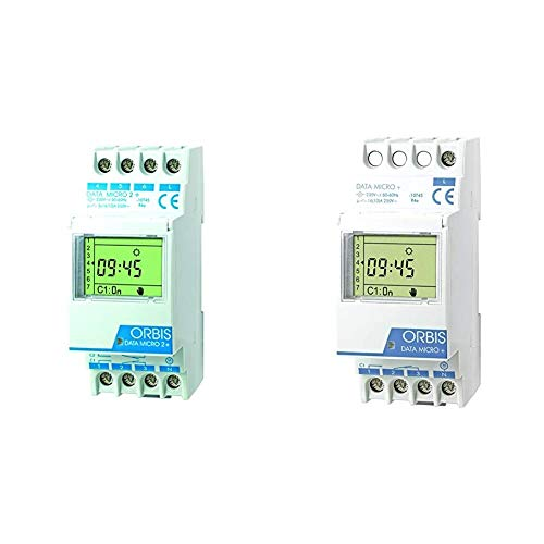 Orbis Data Micro-2 Plus 230 V Interruptor horario Digital de Distribuidor, OB171912N + Data Micro Plus 230 V Interruptor horario Digital de Distribuidor, OB172012N