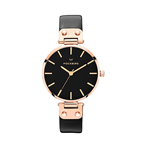 Mockberg Damen Analog Quarz Smart Watch Armbanduhr mit Leder Armband MO110