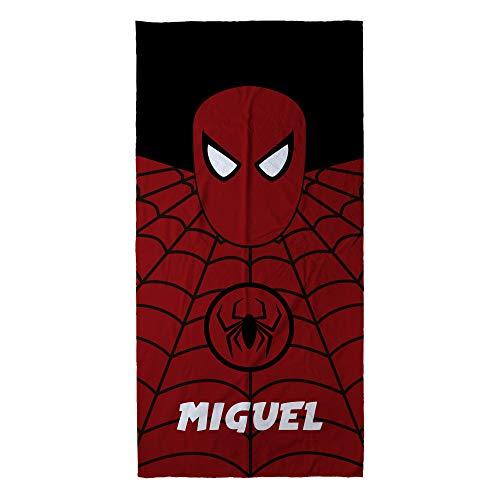 LolaPix Toalla Spiderman Personalizada con Nombre. Toalla Infantil niño o niña. Regalo Original. Varios Diseños y Tamaños. Spiderman