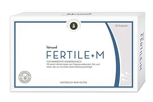 håvsund Fertile+m - Nahrungsergänzung für Männer mit Kinderwunsch - Selen, Zink, Vitamin B6 - Hergestellt in Deutschland - 30 Kapseln