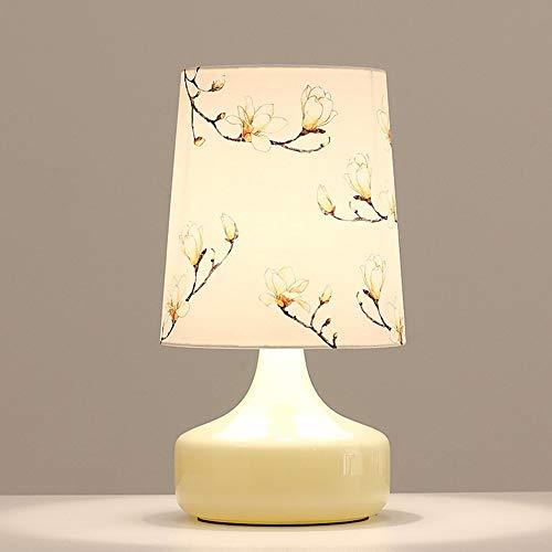 Nordic eenvoudige glazen tafellamp creatieve vazen schilderij doek bureaulamp E27 Art Decoratie nacht slaapkamer woonkamer study linnen leeslamp CUIRUILIAN