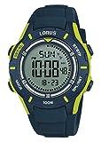 Lorus Jungen Chronograph Digital Uhr mit Silikon Armband R2365MX9